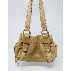 Kooba | handcrafted leather stitched bag